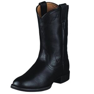 Ariat | Heritage Roper Western Boots Black Leather